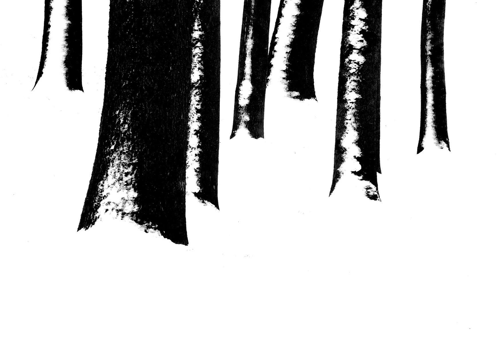 Postkarten schwarz-weiß Winter Fotokunst Kunstpostkarten, Deko